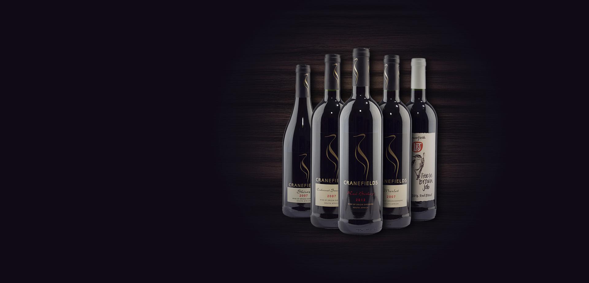 Rotwein aus dem Wein-Shop Südafrikas von Cranefields