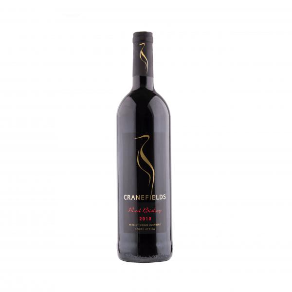 Der Rotwein-Cuvée in der edlen Rotweinflasche