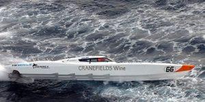 Speedboot weiß Cranefields Wine