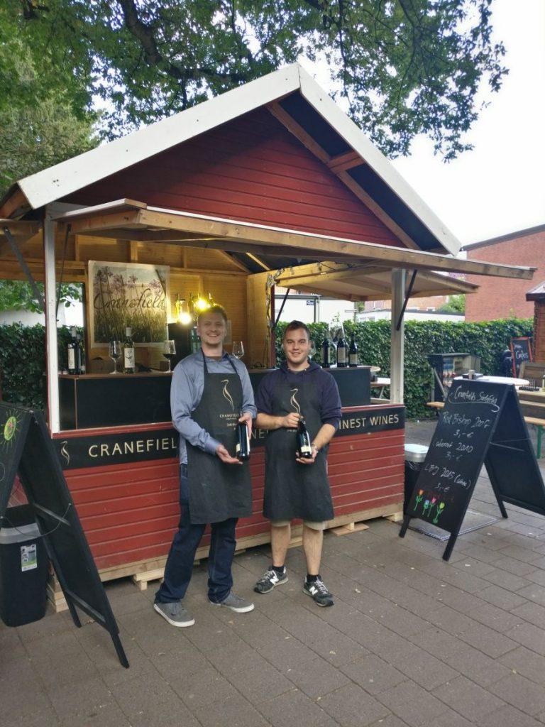 Weinfest Norderstedt 2017: Cranfields und sein Marktstand